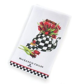 MacKenzie-Childs Tulip Tea Kettle Dish Towel