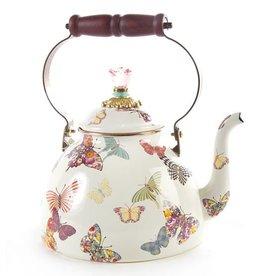 MacKenzie-Childs Butterfly Garden 3 Quart Tea Kettle