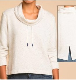 Splendid Funnel Neck Twist Top