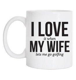 Tickled Teal Love My Wife Mug