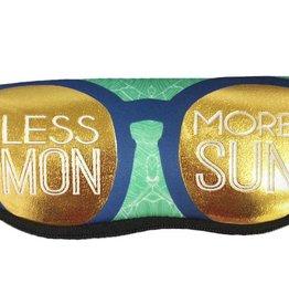 Ann Page Zipper Sunglasses Pouch- Less Mon, More Sun