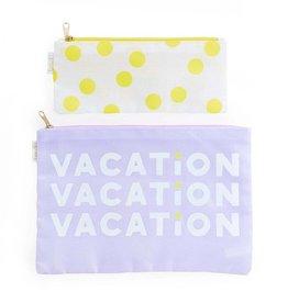 ban.do Carryall Duo: Vacation/Yellow Dots
