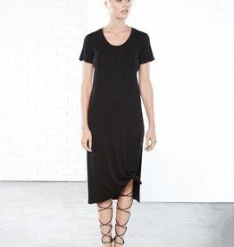 Fifteen Twenty Side Slit T-Shirt Dress- Black