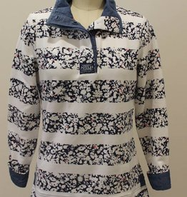 Joules Funnel Neck Sweatshirt -Ditsy Stripe