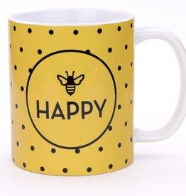 Seltzer Bee Happy Dots Mug