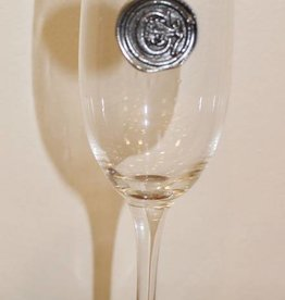 Southern Jubilee Champagne Flute- initial C