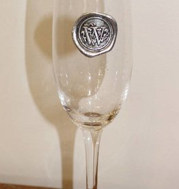 Southern Jubilee Champagne Flute- Initial W