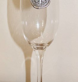 Southern Jubilee Champagne Flute- Initial T