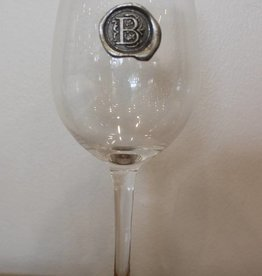 Southern Jubilee Stem Wine Glass- Initial B