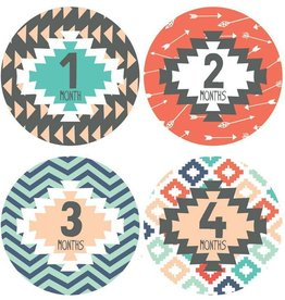 Lucy Darling Tribal Print Monthly Stickers