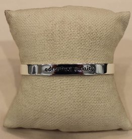 Laurel Denise Silver Inspriation Metal Cuff- Adventure Awaits