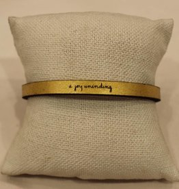 "Laurel Denise Gold ""Joy Unending"" Leather Bracelet"