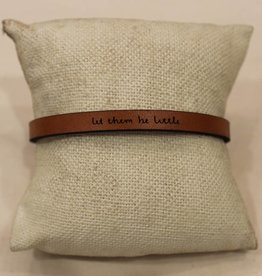 "Laurel Denise Brown ""Let Them be Little"" Leather Bracelet"