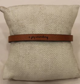 "Laurel Denise Brown ""Joy Unending"" Leather Bracelet"