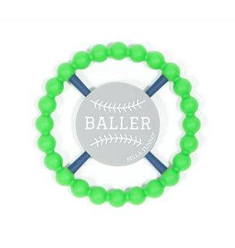 Bella Tunno Baller Teether- Green