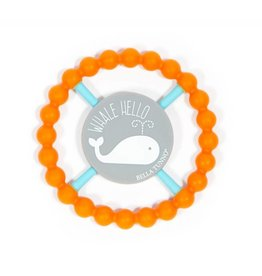 Bella Tunno Whale Hello Teether- Orange