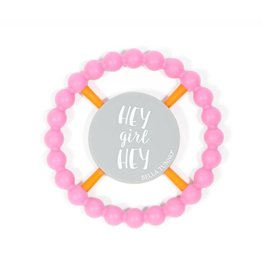 Bella Tunno Hey Girl Hey Teether-Pink