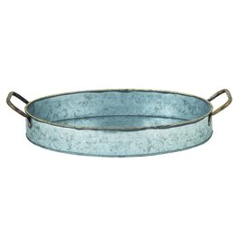 Star Home Designs San Miguel Large Oval Handled Deep Tray