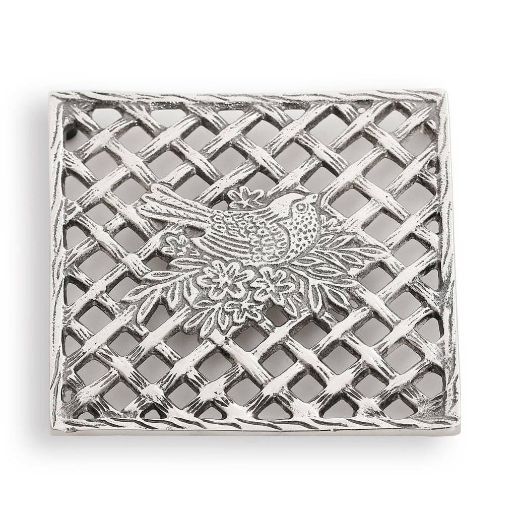 Star home designs bird branch trivet ivory birch for Star home designs