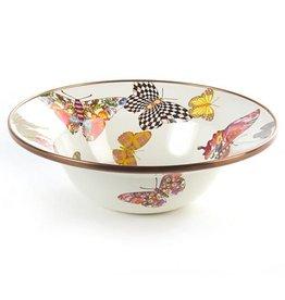 MacKenzie-Childs Butterfly Garden Breakfast Bowl-White