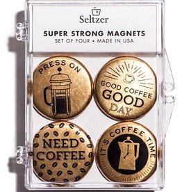 Seltzer Coffee Gold Magnet Set