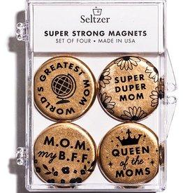Seltzer Mom Gold Magnet Set