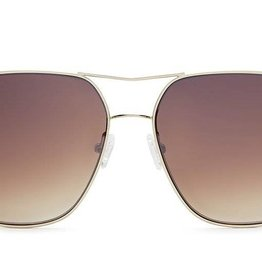 Quay Stop and Stare Sunglasses Gold/Brown