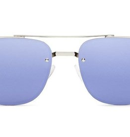 Quay Private Eyes Sunglasses Silver/Violet Mirror