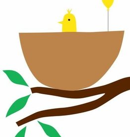 R. Nichols Baby Bird Yellow Greeting Card