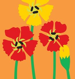 R. Nichols Poppies Thinking of You Greeting Card