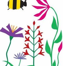 R. Nichols Bee in Garden Greeting Card