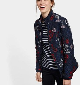 Joules Quilted Coat-Navy Floral