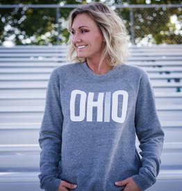 Ohriginal OHIO Patch-Sleeve Crew Neck Sweatshirt