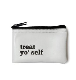 He Said, She Said Treat Yo' Self Vinyl Zip Pouch