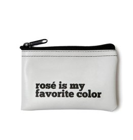 He Said, She Said Rose Is My Favorite Color Vinyl Zip Pouch