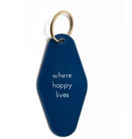 He Said, She Said Where Happy Lives Key Tag
