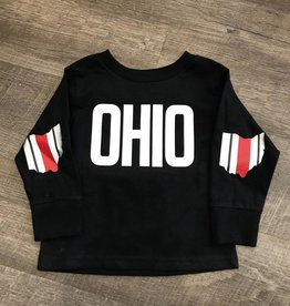Ohriginal OHIO Patch - Black Long Sleeve Crewneck Shirt