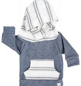 Lulu and Roo Toddler Slate Blue Stone Stripe Hoodie
