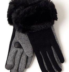 Echo Design Solid Faux Fur Cuff Glove-