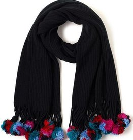 Echo Design Solid Muffler With Pom Poms-