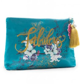 Papaya Jewel Flower Large Tassel Pouch