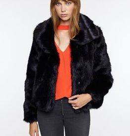 Sanctuary Penelope Faux Fur Jacket-Black