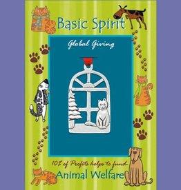 Basic Spirit Cat in Window Global Giving Ornament