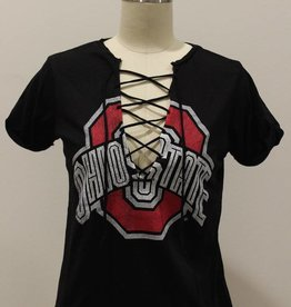 Retro Brand Ohio State Lace-Up Tee