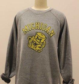 Retro Brand Michigan Grey Sweatshirt