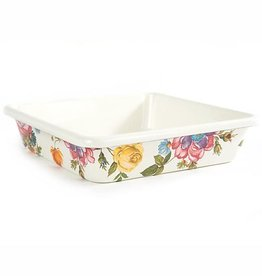 MacKenzie-Childs Flower Market Enamel Square Baking Pan - 8""