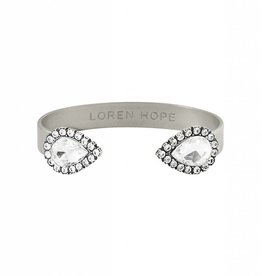 Loren Hope Small Sarra Cuff- Silver/Crystal