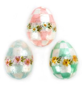 MacKenzie-Childs Pastel Floral Eggs - Large - Set of 3