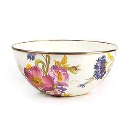 MacKenzie-Childs Flower Market Small Everyday Bowl - White