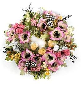MacKenzie-Childs Pink Poppy Wreath